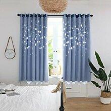 ToDIDAF 2-Deck Gardinen Vorhang, Schneeflocke