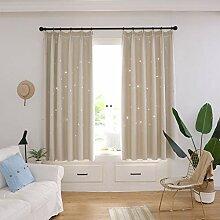 ToDIDAF 2-Deck Gardinen Vorhang, Sternenhimmel