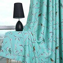 ToDIDAF Blickdichte Gardinen Vorhang, 2 Stück