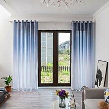 ToDIDAF Einfache Gardinen Vorhang, 2 Stück