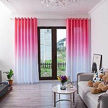 ToDIDAF Einfache Gardinen Vorhang, Farbverlauf