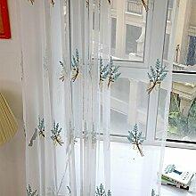 ToDIDAF Gardinen Vorhang, Kleiner Blumenstrauß