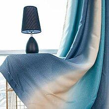 ToDIDAF Stripe Gardinen Vorhang, Lichtdicht