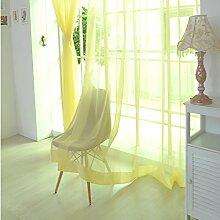 ToDIDAF Transparente Gardinen Vorhang, 1 x 2,7 m