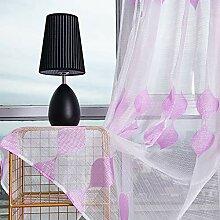 ToDIDAF Transparente Gardinen Vorhang, 2