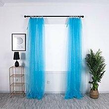 ToDIDAF Transparente Gardinen Vorhang, 2 Stück