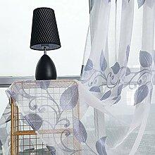 ToDIDAF Transparente Gardinen Vorhang, Blumen