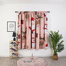 ToDIDAF Weihnachten Gardinen Vorhang, 1 Stück Elk