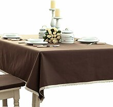 Toechmo Leinen-Tischdecke, rechteckig, waschbar,