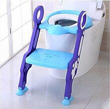 Töpfchen Kinder-WC-Toilettenschüssel, Baby-Toilettenleiter, Kinder-WC-Abdeckungs-Auflage, Säuglings-Toilette (Toiletten-Leiter-Sitzring) Kinder Frosch Urinal ( Farbe : Gelb , stil : Soft cushion )