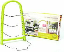 Töpfe setzen die Topf-Regal Edelstahl-Küchen-Töpfe Gespeicherte mehrfache Schichten Regal Incorporated Finishing Frame ( Farbe : #2 )