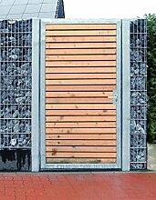 Törchen / Einbau-Breite 125cm / Einbau-Höhe 160cm / 1-flügelig Verzinkt Holz-Füllung / Holz Tor Gartentor Holztor Pforte Tor