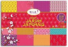 Toga pwp07Japanischer Garten Messerblock mit 36Blatt Papier Mehrfarbig 16x 11x 0,5cm