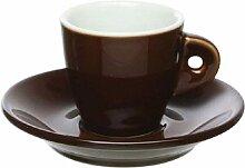 Tognana Kaffeebecher aus feinstem Porzellan, Braun
