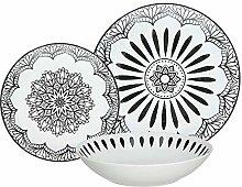 Tognana ME070185582 Tafelservice 18-teilig Mandala