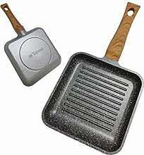 Tognana Porcellane v7458bqmgrw Grill Pan Square Frying Pan – Frying Pans (Square, Grill Pan, Grey, Wood, Aluminium, Stone, Ceramic, Gas, Halogen, Induction, sealed Plate, Bakelit)