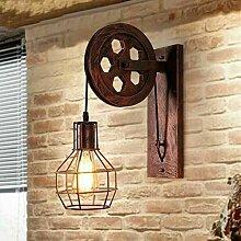 TOHMLAPE E27 Vintage Retro Eisen Wandlampe