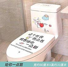 Toilettenaufkleber Netter lustiger Toilettendeckel