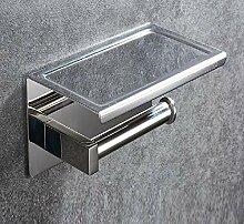 Toilettenpapierhalter 304 Edelstahl Handyhalter