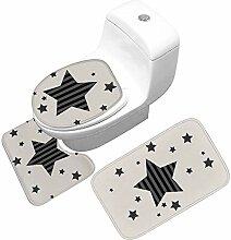 Toilettensitz Dreiteilige Bodenmatte Rutschfeste