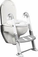 Toilettentrainer Kidskit mit Farbauswahl - Kindertopf - Töpfchen - Kindertoilette (silber/weiß)