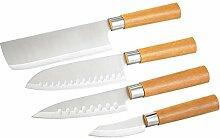 TokioKitchenWare Fleischmesser: 4-teiliges