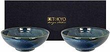 TOKYO design studio, Cobalt Blue, 2 Schalen Set,