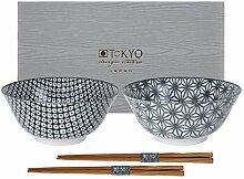 TOKYO design studio Nippon Black 2-er Schalen-Set,