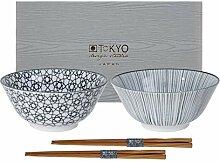 TOKYO design studio Nippon Black 2-er Schalen-Set