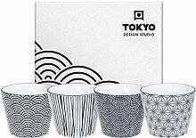 TOKYO design studio, Nippon Black, 4 Becher Set in