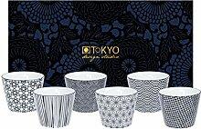 TOKYO design studio, Nippon Black, 6 Becher Set in