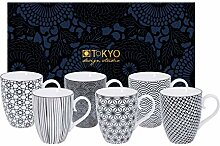 TOKYO design studio, Nippon Black, 6 Tassen Set in