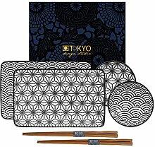 TOKYO design studio Nippon Black Sushi-Set
