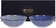 TOKYO Design Studio Nippon Blue 2-er Schalen-Set