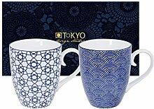 TOKYO design studio Nippon Blue, 2 Tassen Set in