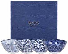 TOKYO design studio Nippon Blue 4-er Schalen-Set