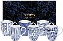 TOKYO design studio Nippon Blue, 6 Tassen Set in
