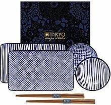 TOKYO design studio Nippon Blue Sushi-Set