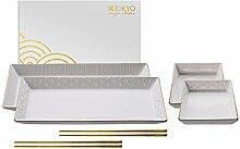 TOKYO design studio Nippon White Sushi-Set weiß,