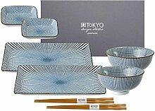 TOKYO design studio, Sendan Tokusa Blue, Sushi