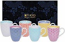 TOKYO design studio, Star Wave, 6 Tassen Set in