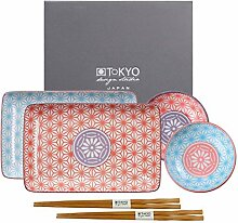 TOKYO design studio Star Wave Sushi-Set bunt,