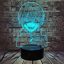 Tokyo Ghoul 3D-Illusionslampe, Ken Kaneki Gesicht