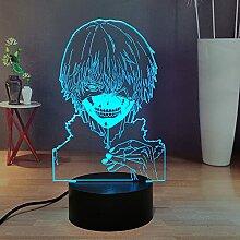Tokyo Ghoul Anime 3D Nachtlicht, Ken Kaneki für