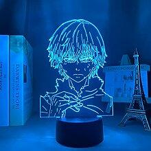 Tokyo Ghoul Ken Kaneki 3d Lampe für Schlafzimmer