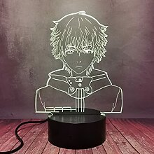 Tokyo Ghoul Kreative Manga-Lampe, 3D-LED-Illusion,