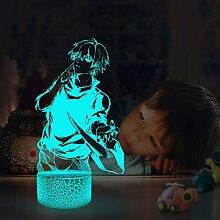 Tokyo Ghoul Lampe 3D Illusion Nachtlichter für
