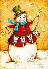 Toland Home and Garden Garten Fahne Snowman Love