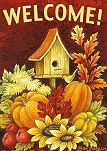 Toland Home Garden 118272 Doppelseitiges Vogelhäuschen, Orange