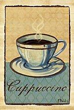 Toland Home Garden cappuccino Stempel Garten Flagge